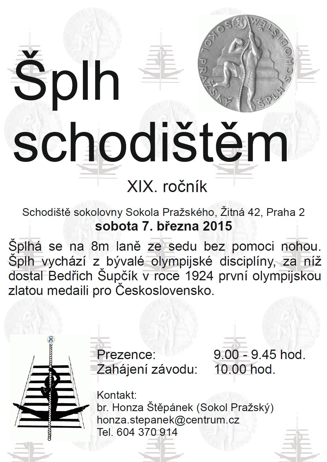 VC Šplh schodištěm 2015 - plakát