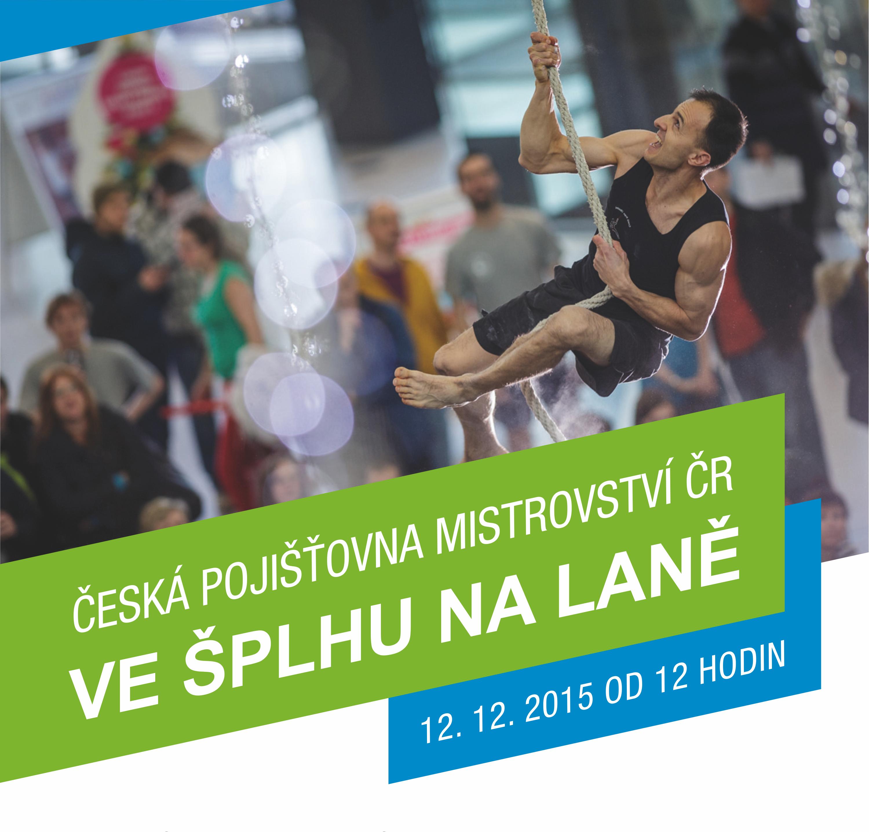 Česká pojišťovna Mistrovství České republiky ve šplhu na laně 2015 - Plakát