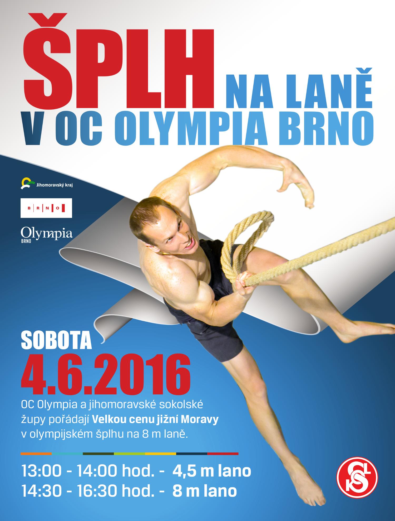 Šplh na laně v Olympii 2016 - plakát