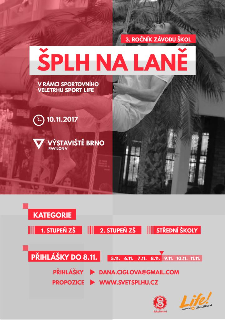 Brno SportLife 2017 - závod základních a středních škol - plakát