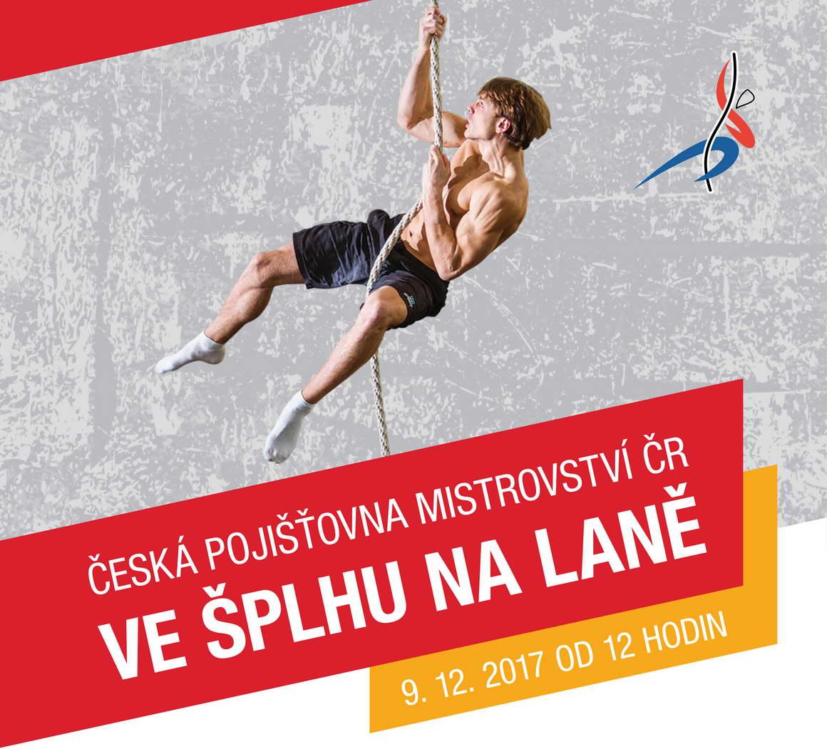 Česká pojišťovna Mistrovství ČR ve šplhu na laně 2017 - plakát - live