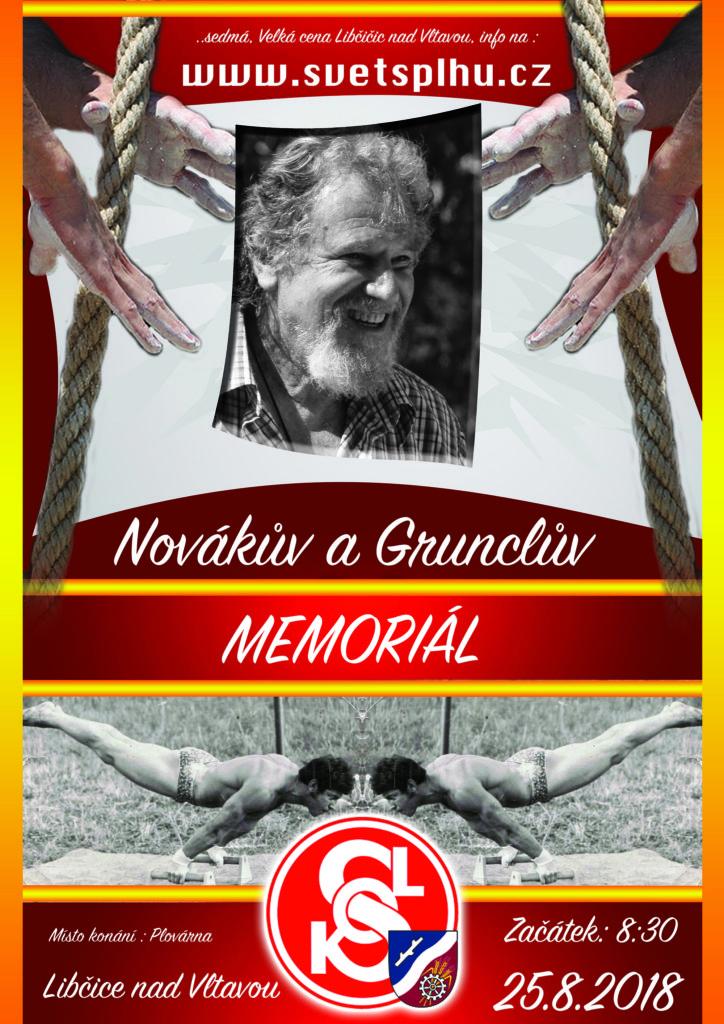 Novákův a Grunclův memoriál - Libčice 2018 - Plakát