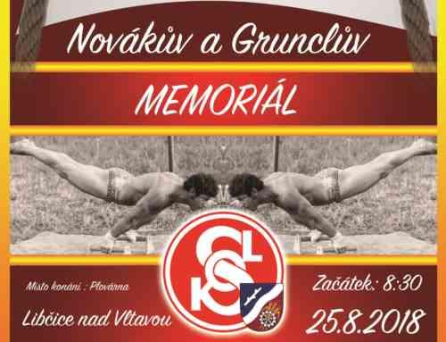 Novákův a Grunclův memoriál – Libčice 2018 – propozice a přihláška