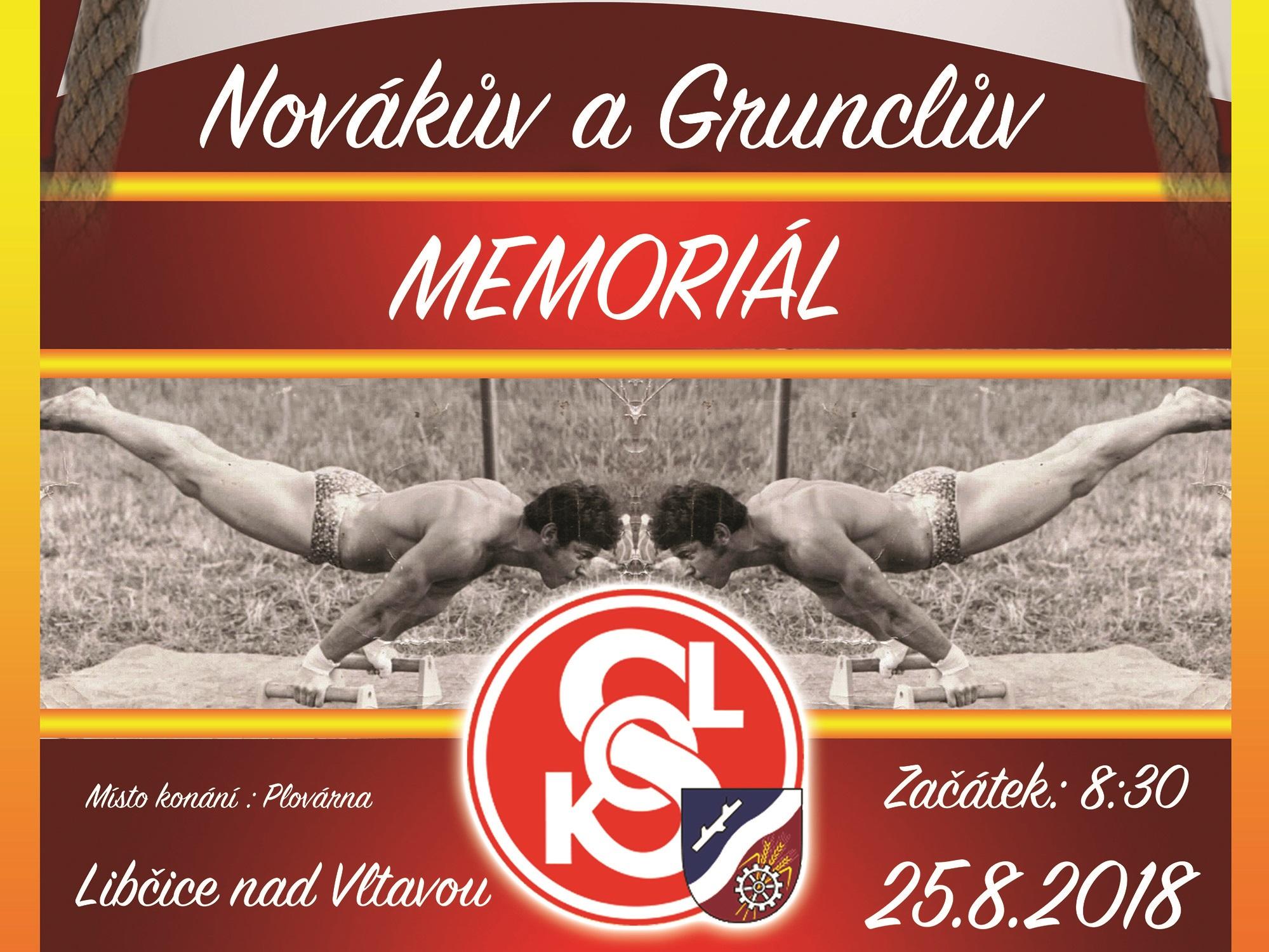 Novákův a Grunclův memoriál - Libčice 2018 - Plakát_edited