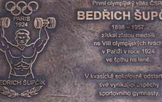 Pamětní deska - Světe div se 2018 - Oslava první československé zlaté medaile Bedřicha Šupčíka