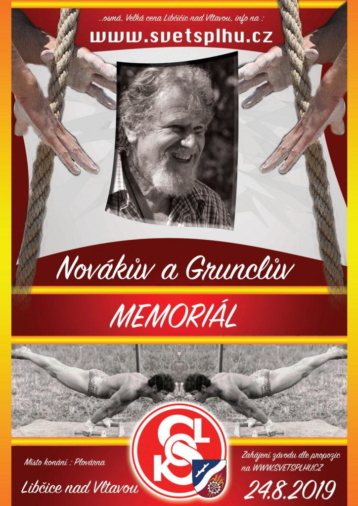 Novákův a Grunclův memoriál - Libčice 2019 - Plakát