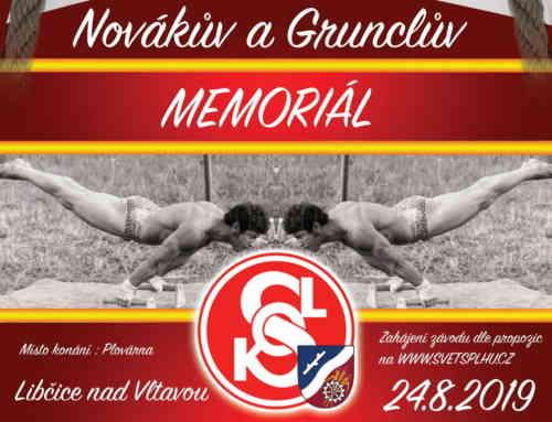 Novákův a Grunclův memoriál 2019 – Libčice 24. srpna