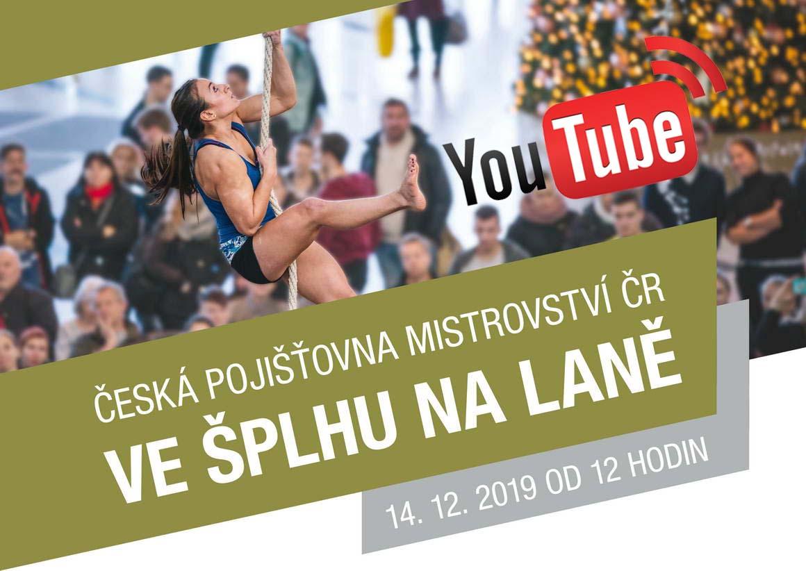 Česká pojišťovna Mistrovství ČR ve šplhu na laně 2019 - YouTube Live